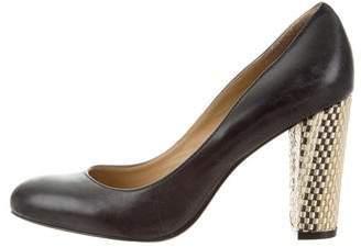 Lauren Ralph Lauren Leather Round-Toe Pumps