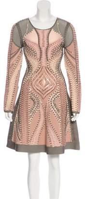 Herve Leger Abelle Embellished Dress Pink Abelle Embellished Dress