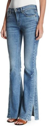7 For All Mankind Ali Gold Coast Waves Flared W/ Side Seam Split $229 thestylecure.com