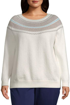 ST. JOHN'S BAY Fair Isle Pullover Sweater - Plus