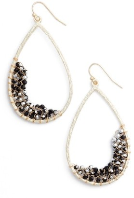 Women's Panacea Crystal Embellished Teardrop Earrings $38 thestylecure.com