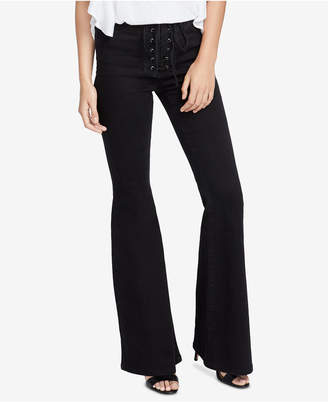 Rachel Roy Lace-Up Flared Jeans