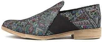 Django & Juliette Kefect Black aztec Shoes Womens Shoes Casual Flat Shoes