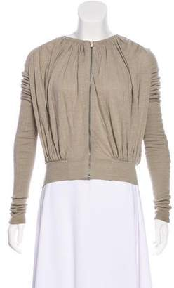 Rick Owens Lilies Pleated Zip-Up Sweater