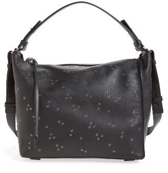 Allsaints Junai Studded Leather Crossbody Bag - Black $378 thestylecure.com