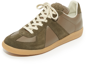 Maison Margiela Leather & Suede Sneakers $470 thestylecure.com