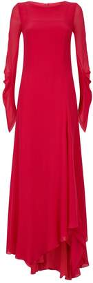 Akris Silk Ruched Sleeve Gown