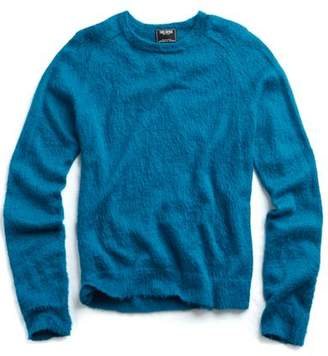 Todd Snyder Italian Brushed Wool Crewneck Sweater in Bright Blue