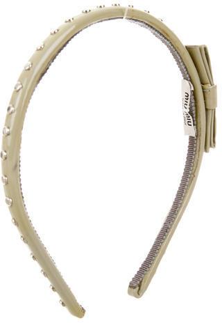 Miu MiuMiu Miu Stud-Embellished Headband