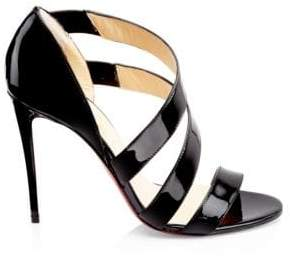 Christian Louboutin Strappy Patent Leather Stiletto Sandals