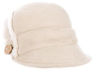 UGG Australia Shearling-Trimmed Suede Hat $90 thestylecure.com