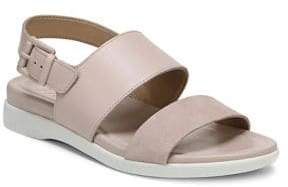 Naturalizer Emory Leather and Suede Demi-Wedge Sandals