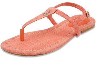 Above Deck Linen T-Strap Sandal $35 thestylecure.com