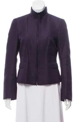 Akris Punto Silk Zip-Up Jacket
