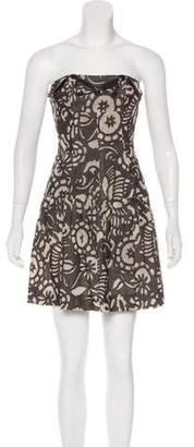 Diane von Furstenberg Embellished Strapless Dress