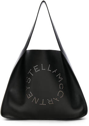 Stella McCartney Perforated Logo Tote in Black | FWRD