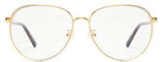 Stella McCartney Round Metal And Bio Acetate Glasses - Womens - Gold