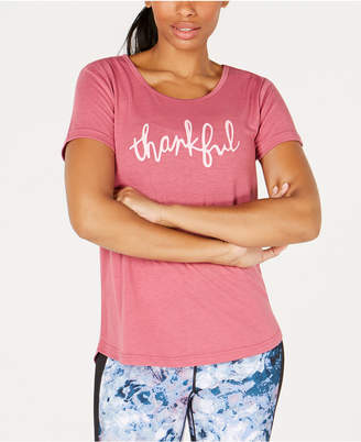 Macy's Ideology Thankful Graphic V-Back T-Shirt, Created for