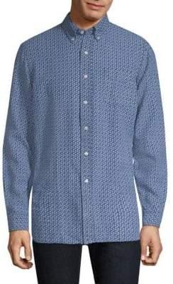 Polo Ralph Lauren Micro-Print Linen Shirt