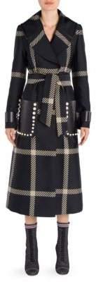 Fendi Jacquard Macro Check Coat