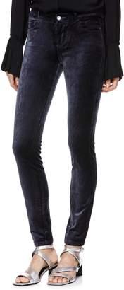 Paige Verdugo Stretch Velvet Skinny Pants