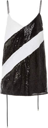 Prabal Gurung Diagonal Seam Sequin Cami Top