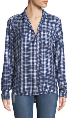 Frank And Eileen Eileen Check-Print Modal Button-Front Pocket Shirt