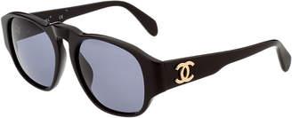 Chanel Black Acrylic Cc Sunglasses