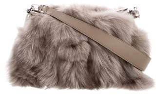 40168ec94590 Michael Kors Miranda Fox Fur Shoulder Bag