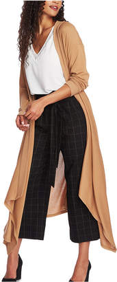 1 STATE 1.state Drape-Front Maxi Cardigan Sweater
