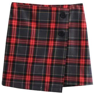 Goodnight Macaroon 'Cathy' English Plaid Buttoned Mini Skirt