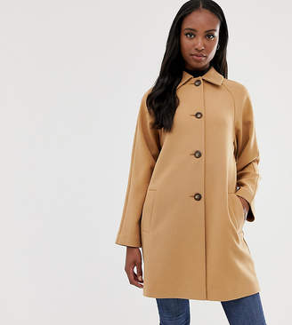 Asos Tall DESIGN Tall crepe coat with buttons