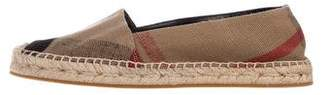 Burberry Canvas Printed Espadrilles