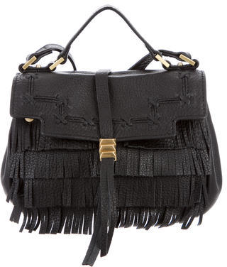 Brian Atwood Fringe Leather Mini Satchel $130 thestylecure.com