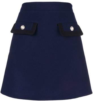 Miu Miu button embellished mini skirt