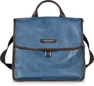 The Bridge Urban Blue Leather Small Backpack
