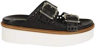 Tod's Buckle Platform Sandals