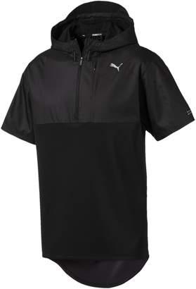 Energy Short Sleeve 1/4 Zip Hooded Mens Running Pullover