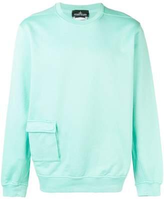 Stone Island Shadow Project flap pocket sweatshirt