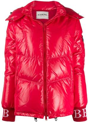 Iceberg hooded zip down jacket