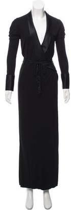 Ralph Lauren Shawl Lapel Maxi Dress