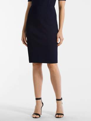 St. John Luxe Sculptural Knit Pencil Skirt
