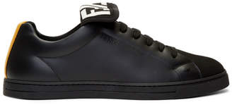 Fendi Black and Yellow Forever Sneakers