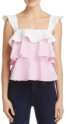 Lucy Paris Striped Ruffle Top - 100% Exclusive $68 thestylecure.com