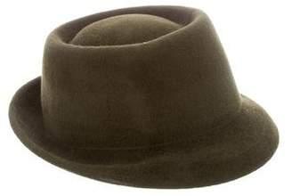 Albertus Swanepoel Feather-Embellished Felt Hat