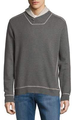 Tommy Bahama Shawl Collar Cotton Sweatshirt