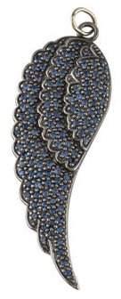 Sydney Evan 14K Sapphire Single Wing Pendant