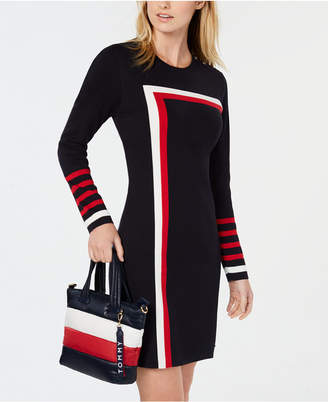Tommy Hilfiger Racing Stripe Sweater Dress