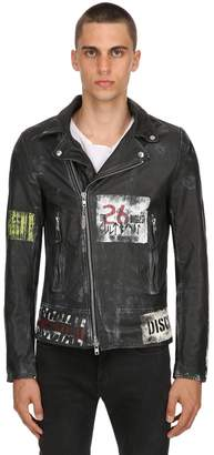 Punk Vintage Effect Leather Jacket