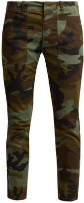 Nili Lotan Jenna camouflage-print cotton-blend trousers